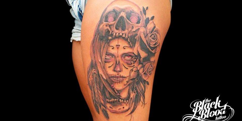 tattoo catrina calavera 9